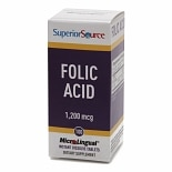 Superior Source Folic Acid 1200mcg Extra Strength, Dissolve Tablets