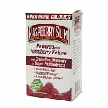 Raspberry Slim Natural Weight Loss with Green Tea, Mulberry & Super Fruit Extracts Dietary Supp