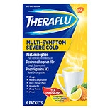 TheraFlu Multi-Symptom Severe Cold Packets Green Tea & Honey Lemon
