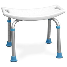 AquaSense Adjustable Bath and Shower Chair with Non-Slip Seat White