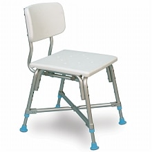 Adjustable Bariatric Bath Bench with Non-Slip Seat and Back Rest