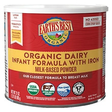 Organic Milk-Based Infant Formula Powder with Iron