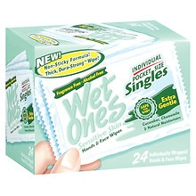 Wet Ones Sensitive Skin Hand & Face Wipes, Singles Fragrance Free