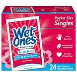 Wet Ones Antibacterial Hands & Face Wipes Pocket Size SinglesFresh Fresh Scent
