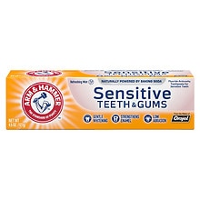 Arm & Hammer Sensitive Whitening Fluoride Anticavity Toothpaste Frosted Mint Flavor
