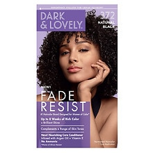 Dark and Lovely Dark And Lovely Fade-Resistant Rich Conditioning Hair Color Kit 372 Natural Black