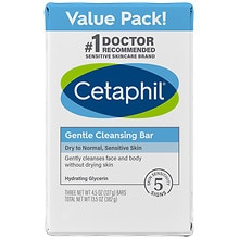 Cetaphil Gentle Cleansing Bars 3 Pack