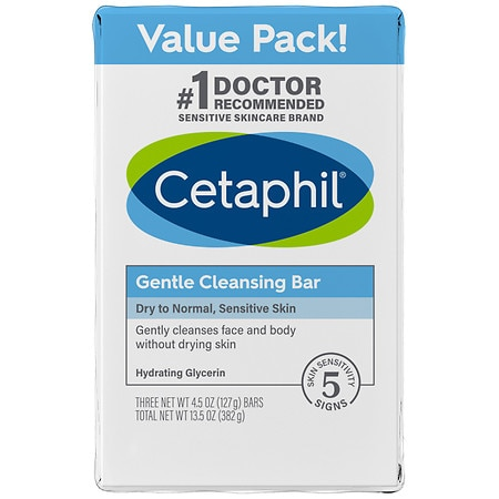 Cetaphil Gentle Cleansing Bar Value Pack 3 pk