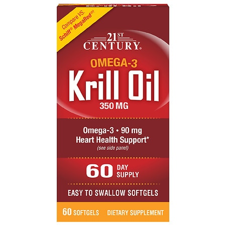 21st Century Krill Oil 300mg Omega-3, Softgels