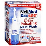 Sinugator Cordless Pulsating Nasal Wash with 30 Premixed Packets