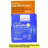 Walgreens Super Thin 30 Gauge Sterile Tip Lancets