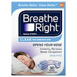 Breathe Right Clear Nasal Strips for Sensitive Skin Clear
