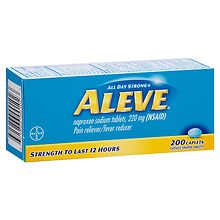 Aleve All Day Strong Pain Reliever Fever Reducer, Caplets
