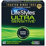 LifeStyles Ultra Sensitive Premium Lubricated Latex Condoms Ultra Sensitive