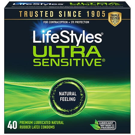 LifeStyles Lubricated Latex Condoms Ultra Sensitive