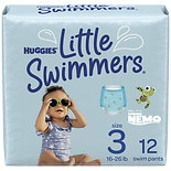 Huggies Little Swimmers Disposable Swimpants, Unisex Small, 16-26 lbs, 12 ea