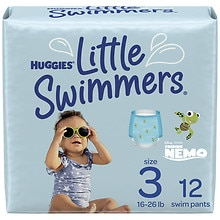 Little Swimmers Disposable Swimpants Small, 16-26 lbs, 12 ea