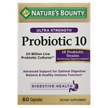 Nature's Bounty Ultra Strength Advanced Probiotic 10, Caplets