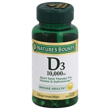 Nature's Bounty D3 10,000 IU Vitamin Supplement Softgels Ultra Strength