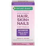 Nature's Bounty Optimal Solutions Hair Skin and Nails Dietary Supplement Coated Caplets
