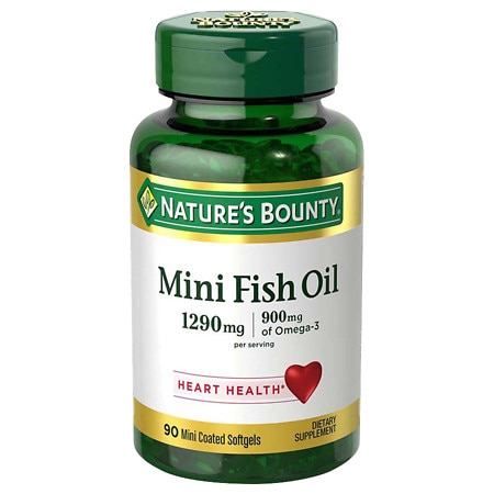 Nature's Bounty Fish Oil Dietary Supplement Mini Softgels