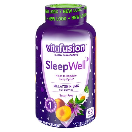Vitafusion SleepWell Gummy Sleep Aid for Adults White Tea & Passion Fruit