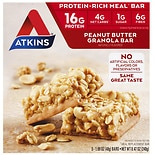 Atkins Advantage Meal Bars, 5 Peanut Butter Granola