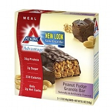 Atkins Advantage Meal Bars Peanut Fudge Granola