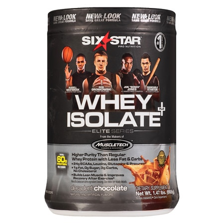 Six Star Elite Series Whey Isolate Dietary Supplement Powder Decadent Chocolate