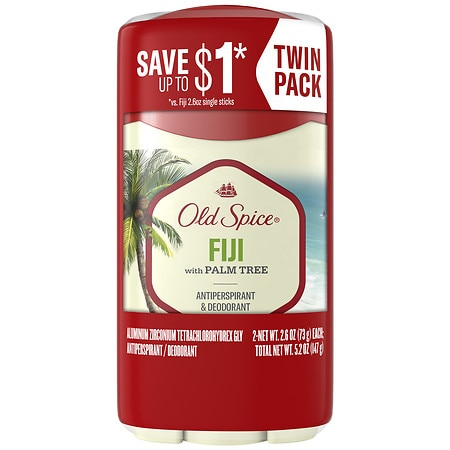 Old Spice Fresher Collection Antiperspirant & Deodorant Sticks Fiji, 2 pk