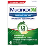 MucinexDM DM Expectorant & Cough Suppressant Tablets Cough & Chest Congestion