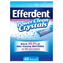 Efferdent Power Clean Crystals, Anti-Bacterial Denture Cleaner Icy Mint
