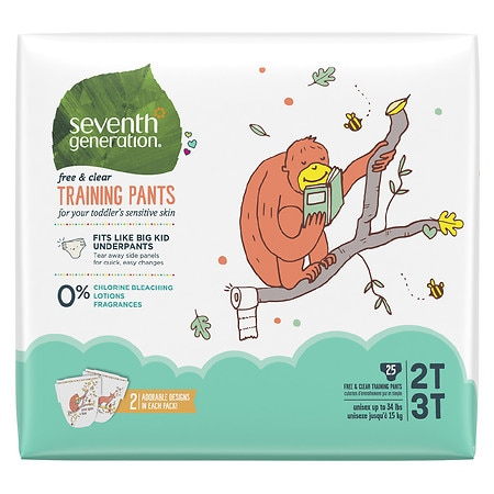 Seventh Generation Free & Clear Training Pants Size 2T-3T