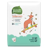 Seventh Generation Free & Clear Training Pants Size 3T-4T, 22 ea