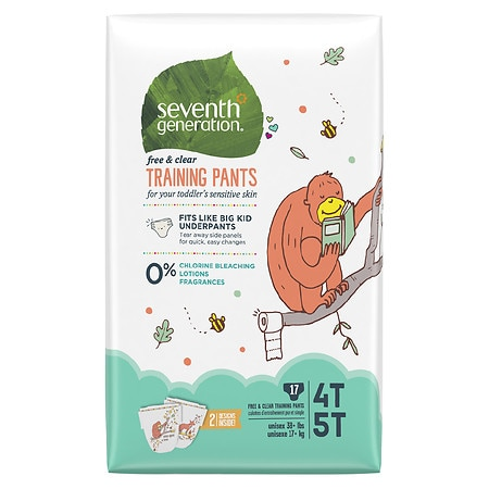 Seventh Generation Free & Clear Training Pants Size 4T-5T