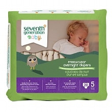 Seventh Generation Baby Overnight Diapers Stage 5, 27+ lbs