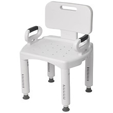 Drive Medical Bath Bench with Back & Arms