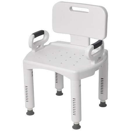 Drive Medical Premium Series Shower Chair with Back & Arms