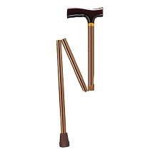 Drive Medical Lightweight Adjustable Folding Cane with T Handle
