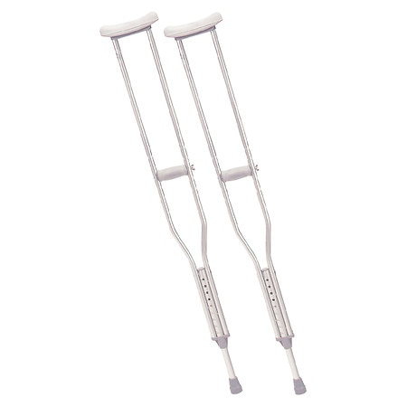 Drive Medical Walking Crutches with Underarm Pad & Handgrip Tall Adult