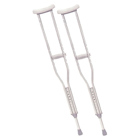 Drive Medical Walking Crutches with Underarm Pad & Handgrip Adult
