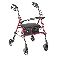 Adjustable Seat Height Rollator RTL10261RD