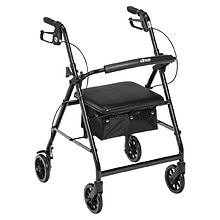 Rollator with Fold-up Back Rest & Padded Seat