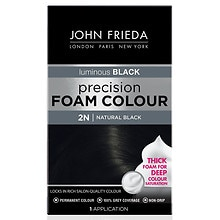 John Frieda Precision Foam Color Permanent Hair Colour Natural Black 2N