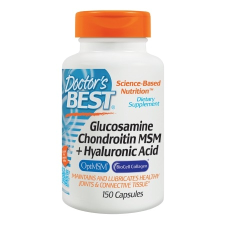 Doctor's Best Glucosamine Chondroitin MSM + Hyaluronic Acid, Capsules