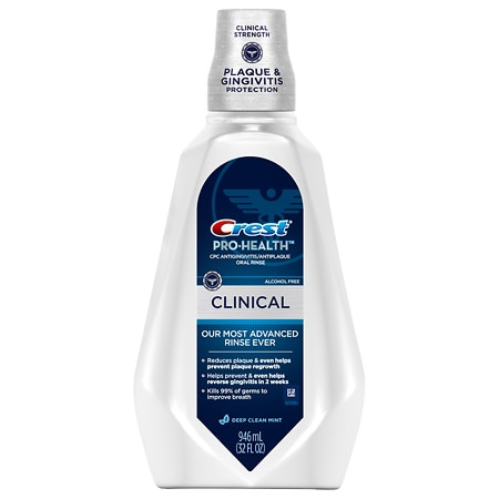 Crest Pro-Health Clinical CPC Antigingivitis/Antiplaque Oral Rinse Deep Clean Mint