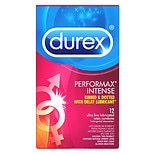 Durex Performax Intense Premium Lubricated Latex Condoms 12 count