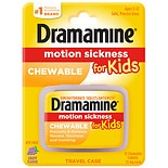 Dramamine Motion Sickness Relief for Kids Chewable Tablets Grape
