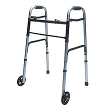 ColorSelect Adult Walker with Wheels, Blue