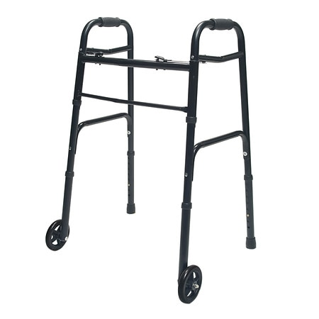 Lumex ColorSelect Adult Walker with Wheels Black